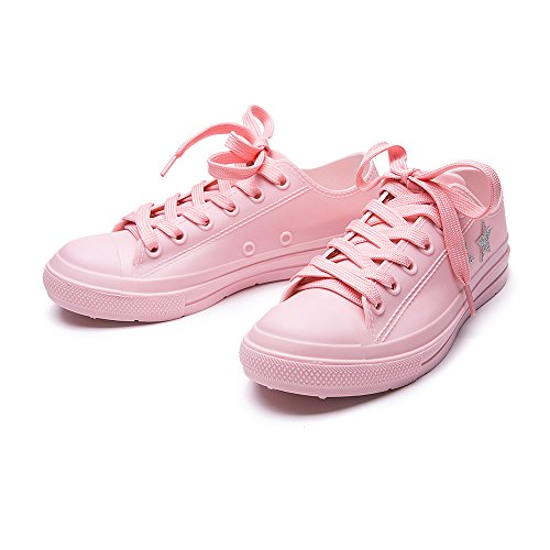Pink Waterproof Cavave Star PVC Shoes Canvas Rubber Shoes Rain With Women For Girls Iq7I4