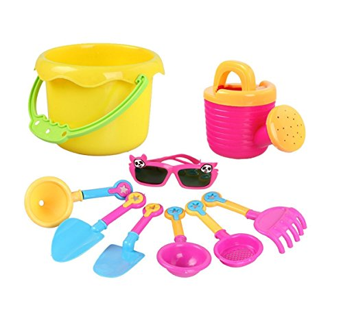 Blue Green Novelty 9-Piece Beach Toys - Sunglass Scoop