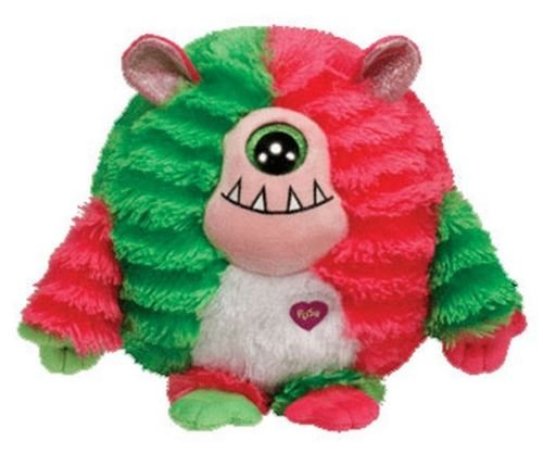 TY 8'' Medium Plush SPIKE The Pink/Green Cyclops Sound MONSTAZ Monster ~NEW~ - Cyclops Minecraft