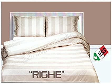 Letto Matrimoniale Shabby.Rp Dolce Notte Trapunta Invenale Piumone Letto Matrimoniale 2 Piazze Shabby Chic Righe Naturale