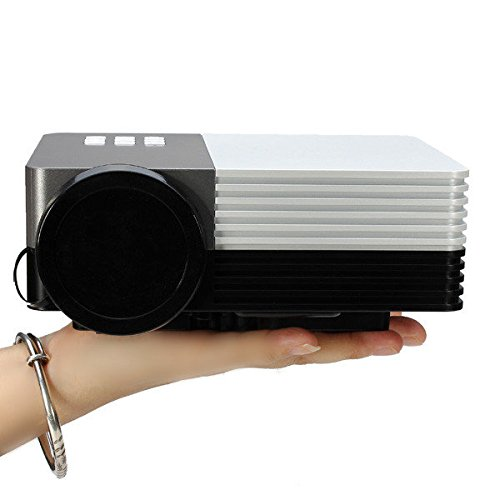 C&C Products GM50 Portable LED Projector Support 1080P SD HDMI VGA AV USB Home Cinema by C & C