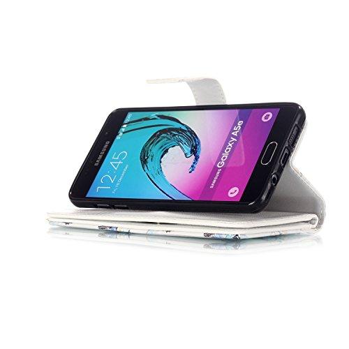 Para Samsung Galaxy J3 SM-J300F (2015 Edicion) Funda Sunroyal® [Cierre Magnético] Bookstyle Ultra Slim PU Cuero Flip Caso Leather Wallet Cubierta Caja Carcasa Con [Flip Case Cover][Función de Soporte] Size-07