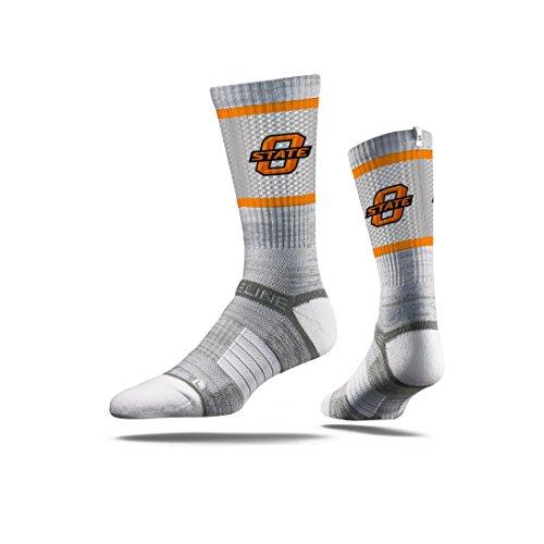 Strideline NCAA Oklahoma State Cowboys Premium Athletic Crew Socks, Grey, One Size
