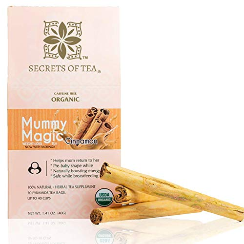 Mummy Magic Weight Loss Tea - Cinnamon Tea - USDA Certified Herbal Tea - Energy Tea for Metabolism Boosting and improved Digestion Tea with 40 Servings.