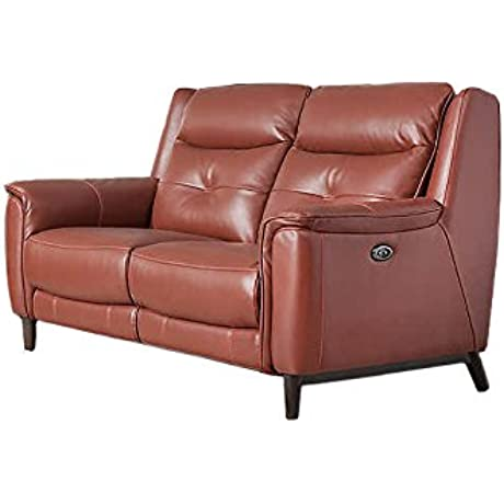 Jamie Living 11237 Sloane Leather Reclining Loveseat Rustic Red