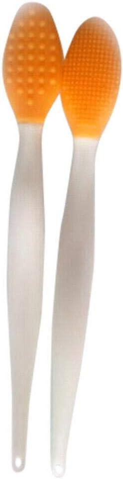 Fishyu 2Pcs Silicone Face Nose Cleaner Brush Exfoliating Blackhead Facial Clean Tool