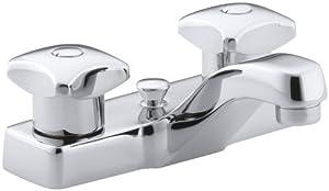 KOHLER K-7401-2A-CP Triton Centerset Lavatory Faucet, Polished Chrome new