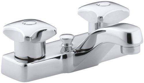 KOHLER K-7401-2A-CP Triton Centerset Lavatory Faucet, Polished Chrome