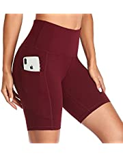 Vimbloom Yoga Shorts for Women High Waist Short Leggings with Pockets Tummy Control Bike Shorts for Gym Running Cycling VI057