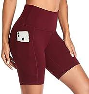 Vimbloom Yoga Shorts for Women High Waist Short Leggings with Pockets Tummy Control Bike Shorts for Gym Runnin
