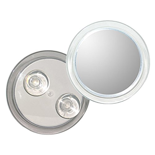 (Rucci Fogless Suction Cup Mirror, Clear Acrylic, 5X, 6 Inch Diameter)