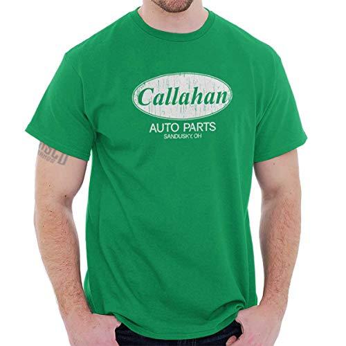 Brisco Brands Callahan Auto Parts 90s Movie Retro Parody T Shirt Tee Irish Green