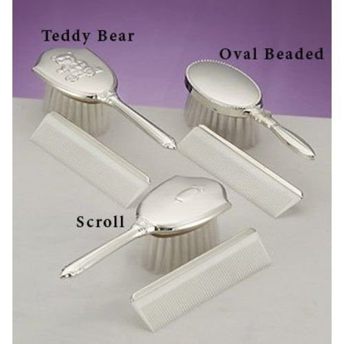 Empire Silver Sterling Scroll Comb & Brush Set
