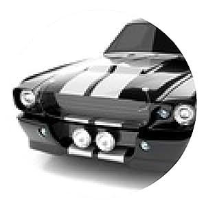 alfombrilla de ratón Negro clásico coche deportivo - ronda - 20cm