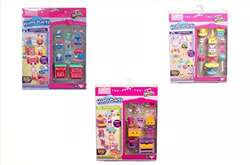 Shopkins Happy Places Decorator's Pack Set of 3 by Shopkins