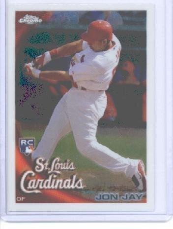 2010 Topps Chrome Baseball Card # 178 Jon Jay RC - St. Louis Cardinals (RC - Rookie Card) MLB Trading Card