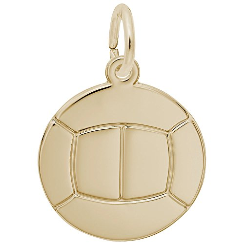 Volleyball Charm In 14k Yellow Gold, Charms for Bracelets and Necklaces