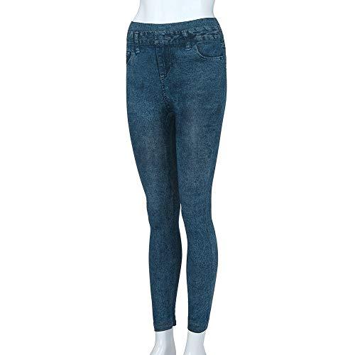 Grandes De Casual Azul Mujeres Npradla Jeans Tallas Delgado Longitud Leggins Gimnasio Bolsillo El Mezclilla Tendencia Vaqueros Para Moda Pantalón tcwTqwOU