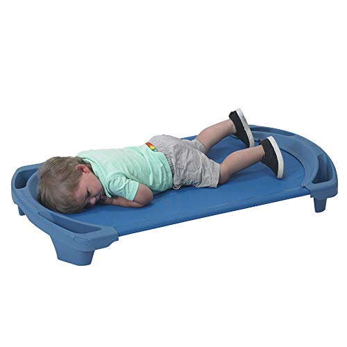 Angeles AFB5731OB Space Line Single Cot, Toddler, 42.5 Height, 22 Length, 5 Width, Blue