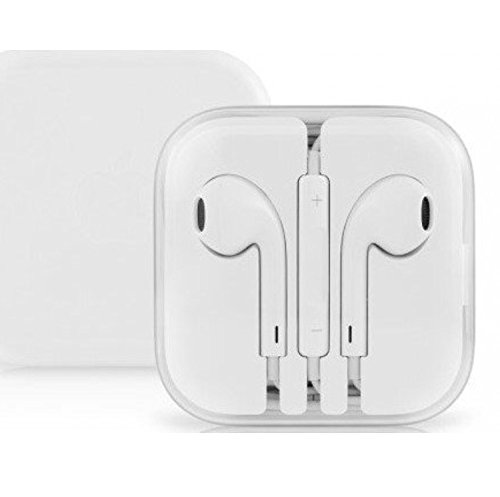 Earphones for Android and Apple iPhone eraphone 6 6s Plus Headset with Mic & Volume Control (White)