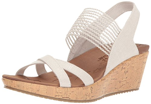 (Skechers Cali Women's Beverlee-High Tea Wedge Sandal,natural,9 M US)