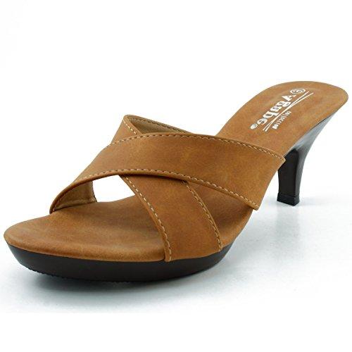 Agape Krista-04 Sandalo Con Tacco In Nabuk Marrone