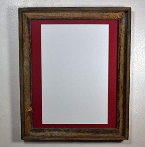 Charmant Amazon.com: Rustic Wood Frame 12x18 Red Mat Wall Hung Poster Frame With  Glass 16x20 Without Mat: Handmade