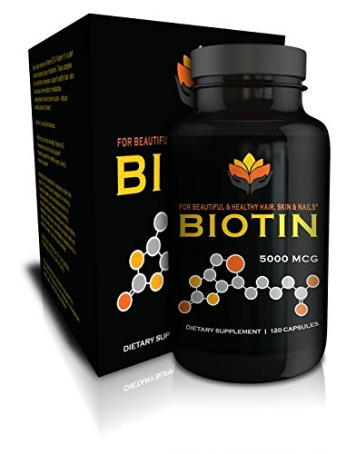 Me First Living Vegan-Friendly Biotin 5,000 MCG Vitamin Dietary Supplement Capsule for Hair, Skin and Nails, 120 Capsules 700814449834