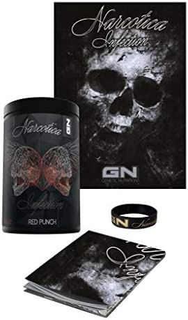 GN Limited Edition Narcotica Infection Pre-Workout Hardcore Booster Trainingsbooster Bodybuilding 400g inkl. Armband u. Poster (Red Punch - Rote Früchte - Dark)