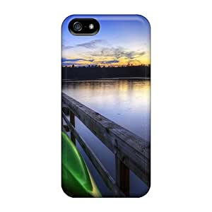 Tpu Case Cover Compatible For Iphone 5/5s/ Hot Case/ Canoe On Dock In Evening Lake by Maris's Diary