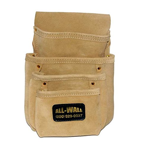 Perma Pouch Top Quality Leather 4-Pocket Nail / Screw Pouch
