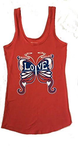 No Boundaries Womens Tank Top Medium Butterfly - Pant Altitude