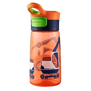 Contigo Autoseal Kids Gracie Water Bottle, 14-Ounce, Nectarine Graphic