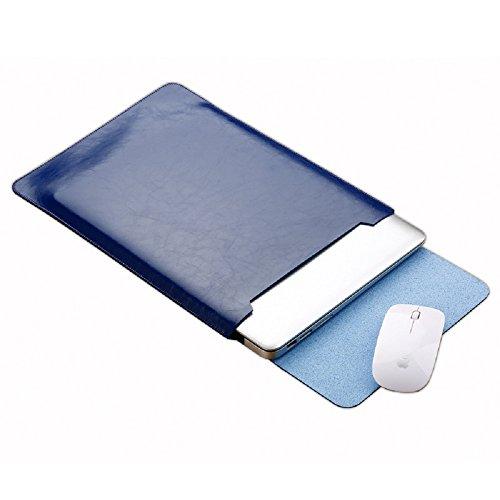 Funnylive Microfiber Leather Laptop Bag Macbook Air/Pro Protection Case Apple Laptop Bag 11.6'' 12'' 13.3'' 15.4'''' (Blue, Macbook 12'') by Funny live