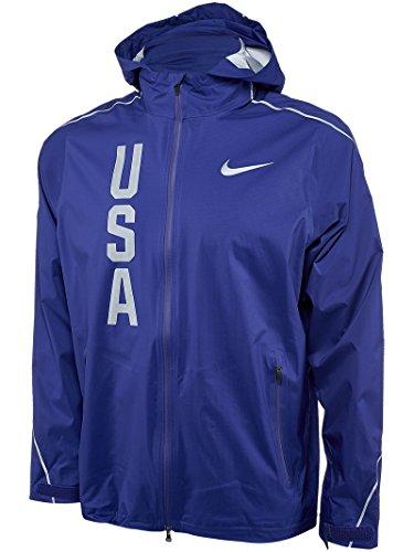 Nike Men's Hypershield Olympic Team USA Jacket Deep Royal Blue Medium