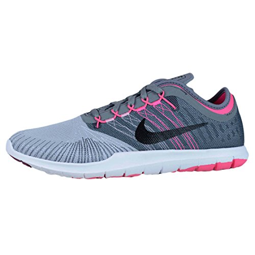 Nike Women's WMNS Flex Adapt Tr Gymnastics Shoes Grey (Wolf Grey / Black-cl Grey-pnk Blst) nyp8PH