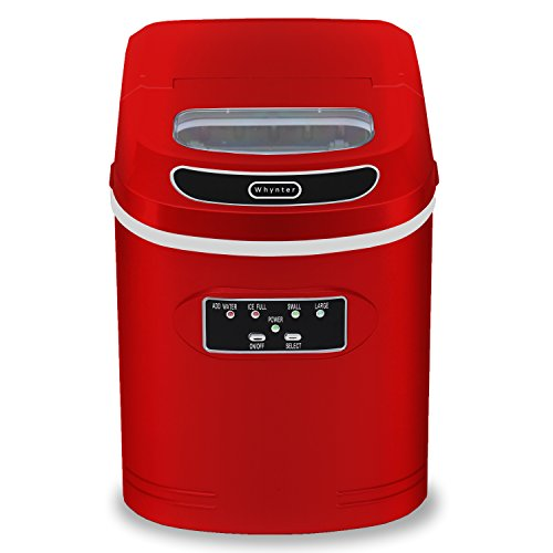 Whynter IMC-270MR Compact Portable Ice Maker lbs Metallic Red