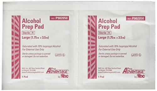 Pro Advantage P902050 Alcohol Prep Pad, Sterile, Large, 1 3/4