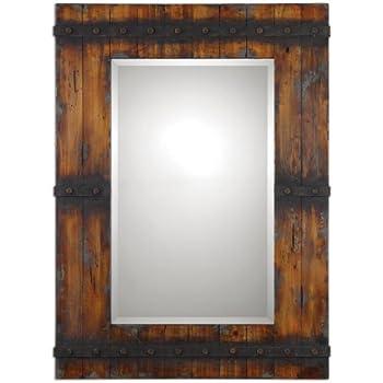 Amazon Com Extra Large 43 Quot Rustic Wood Wall Mirror Vanity