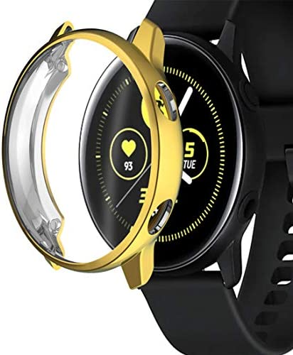 Maxku Galaxy Watch Active tpu 保護ケース アンチスクラッチ TPUフレーム 保護カバー プロテクターシールド 全3色 (ゴールド)