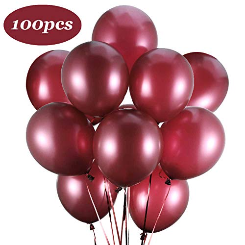 Latex Balloons, 100-Pack, 12-Inch Burgundy(Burgundy) ()