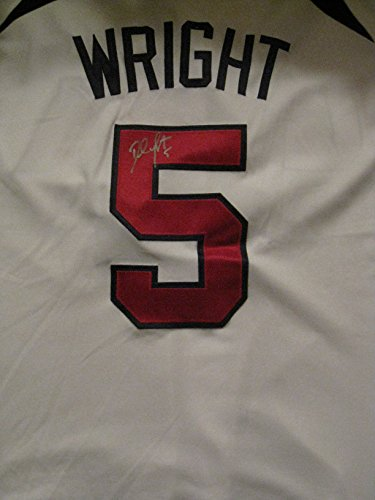 David Wright Autographed/Signed NY Mets Team USA Sewn Jersey COA David Wright Signed Jersey