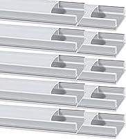 LED Aluminium Profil, Chesbung Led Aluminium Leisten 10 Pack 1M/ 3.3ft Aluminium Extrusion Milchig Deckel Endkappen...