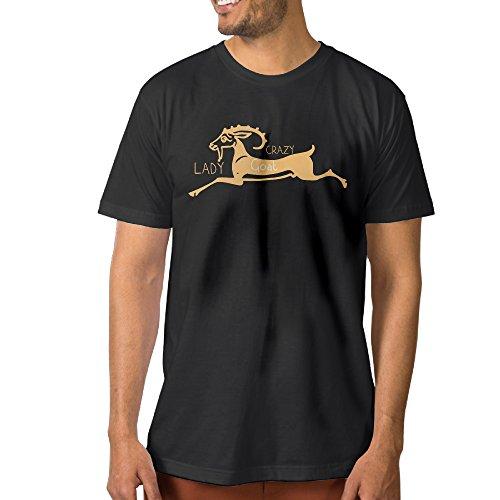 Price comparison product image Fashion Men's Crazy Goat Lady Tshirt Black Size L