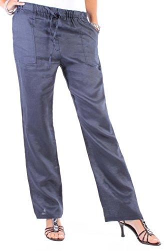 Mujer Pantalón Pantalón de lino para Aladin Pump Harén 9Colors 36s–�?4XXL azul oscuro