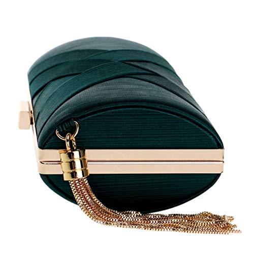 Del Partido Embrague Las Black Nupcial Bolso boda Señoras Magai bolso Tarde Mano Color De Green Puro color dFxXqdSt