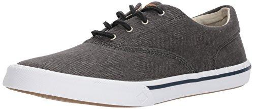 SPERRY Men's Striper II CVO Washed Sneaker, Black, 11
