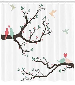 Abakuhaus Duschvorhang Vogel Auf Dem Baum Serenade Partner