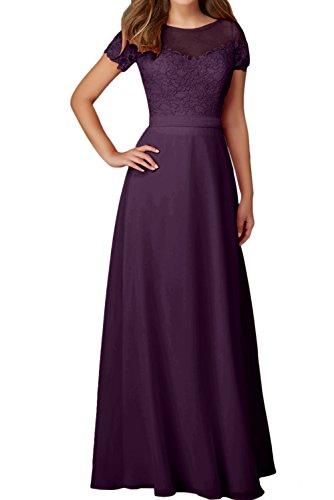 Abendkleider Ivydressing Spitze Traube Rundkragen Damen Mit Aermeln Ballkleid Elegant Festkleider rYXqr
