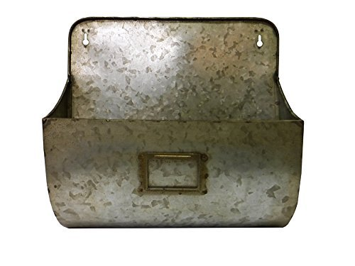 Colonial Tin Works Galvanized Wall Pocket -